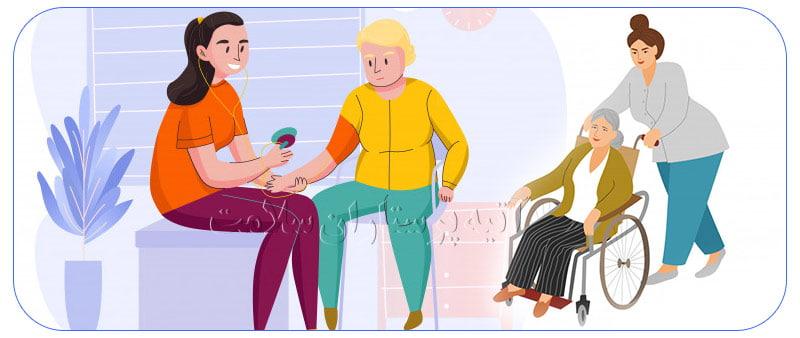 خدمات پرستار سالمند در تهران بالاشهر