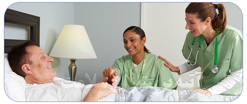 خدمات پرستاری حرفه ای در منزل و بیمارستان ها