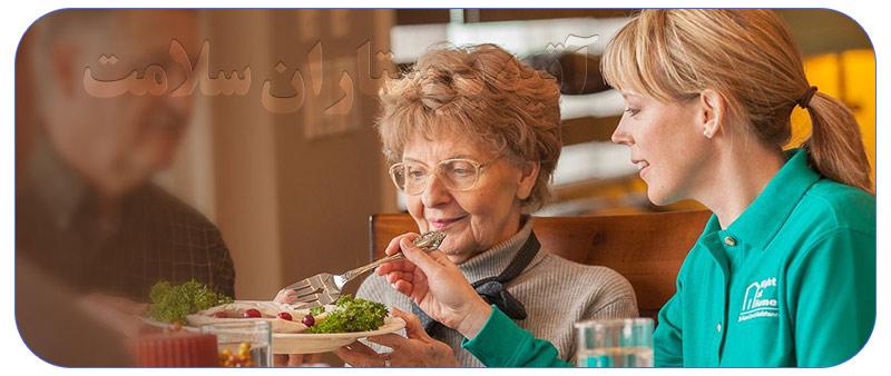 مراقب سالمند شمال تهران در منزل