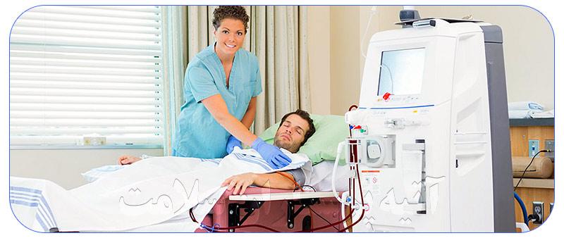 پرستار برای بیمار در منزل