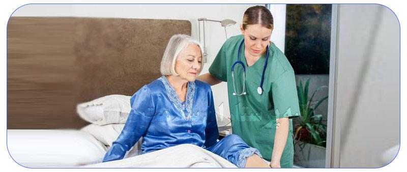 پرستار مراقب بیمار زخم بستری