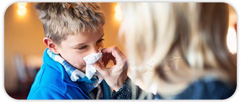 سینوزیت در کودکان و نوزادان با سرماخوردگی