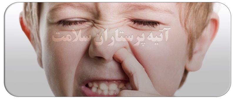 درمان گرفتگی بینی کودکان در شب