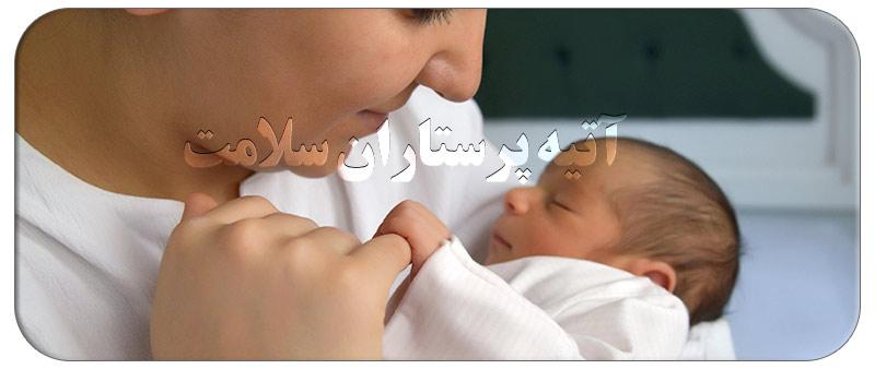 عقب کشیدن سر نوزاد