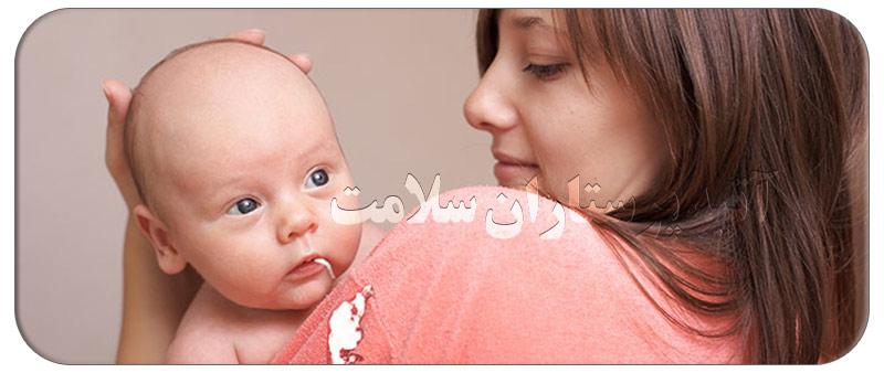 8 راه درمان خانگی رفلاکس نوزاد