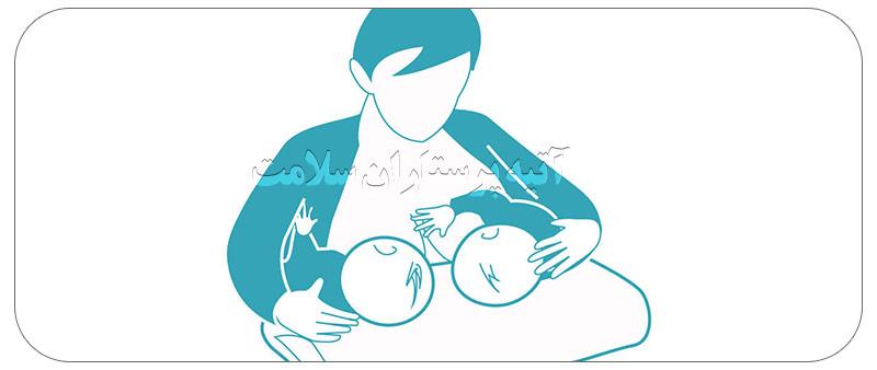 شیر دادن به نوزاد دوقلو